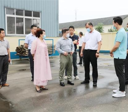 网库集团高管与荆州区委领导考察天地雷竞技电竞平台新材料集团